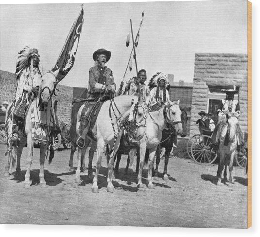 Buffalo Bill And Friends Wood Print