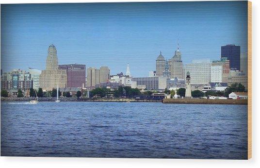 Buffalo New York Wood Print by John Carncross