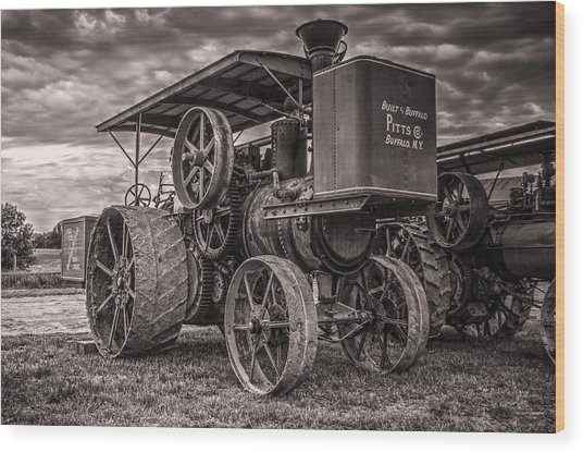 Buffalo Pitts Steam Traction Engine Wood Print