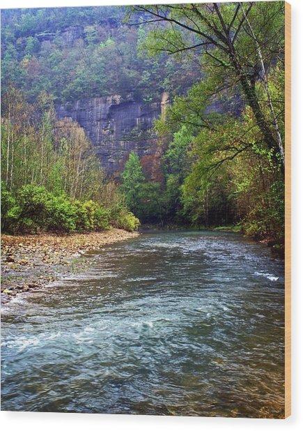 Buffalo River Downstream Wood Print