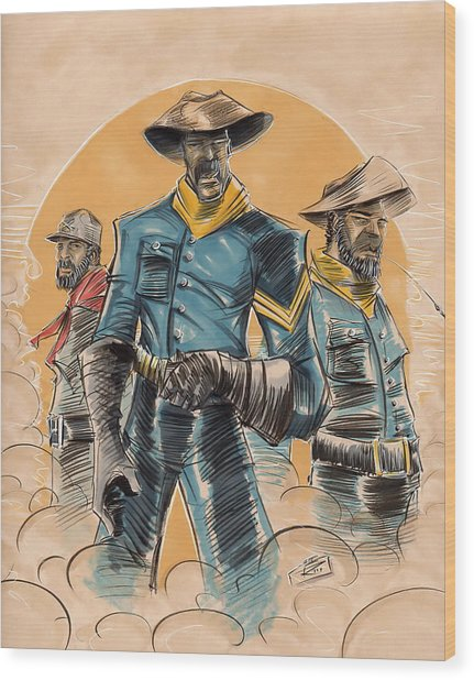 Buffalo Soldiers Wood Print