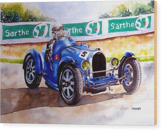 Bugatti 35b Wood Print by Anne Dalton