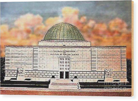 Buhl Planetarium Theatre In Pittsburgh Pa Around 1940 Wood Print by Dwight Goss