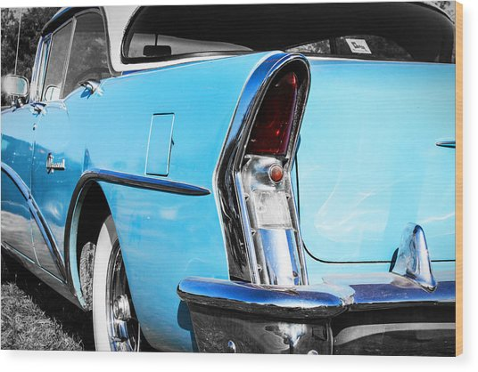 Buick Baby Blue Wood Print