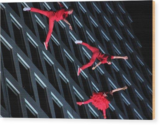 Building Dancers  Wood Print