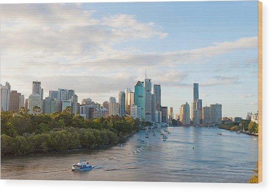 Buildings At The Waterfront, Brisbane Wood Print