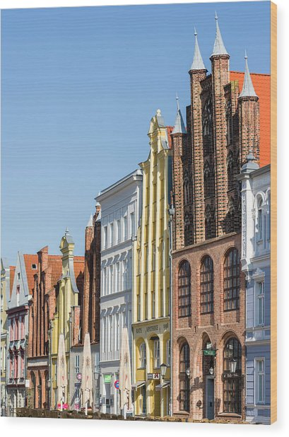 Buildings Lining The Alte Markt (old Wood Print