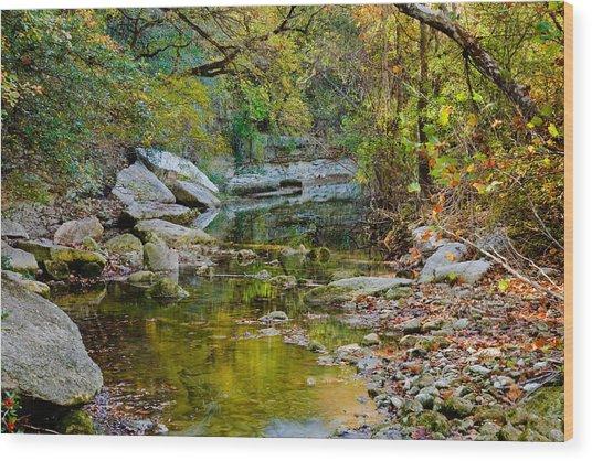 Bull Creek In The Fall Wood Print