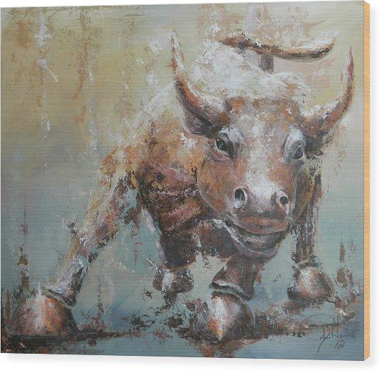 Bull Market Y Wood Print by John Henne