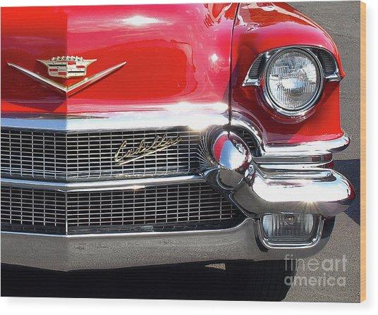 Bullet Bumpers - 1956 Cadillac Wood Print