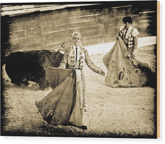 Bullfighting Blond Wood Print