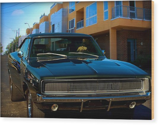 Bullit Replica Charger Wood Print