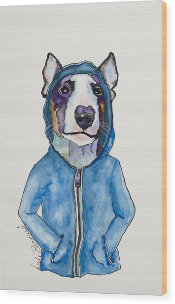 Bully For The Hoodie Wood Print