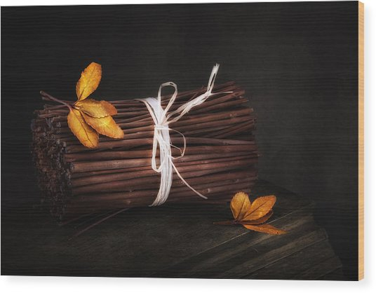 Bundle Of Sticks Still Life Wood Print