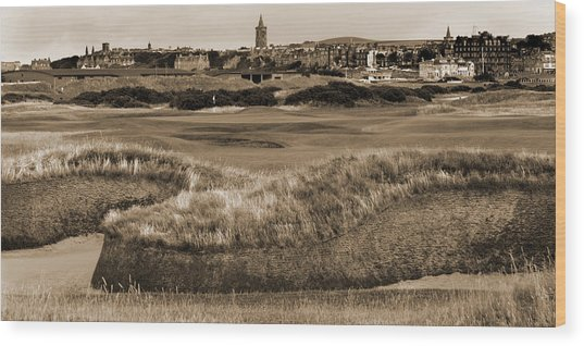 Bunker At St. Andrews Old Course Scotland Wood Print