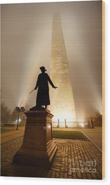 Bunker Hill Monument  Wood Print by Denis Tangney Jr