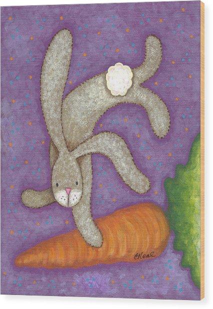 Bunny Bliss Wood Print