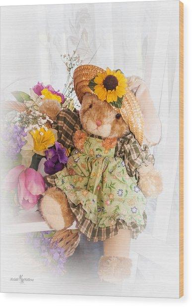 Bunny Expressions Wood Print