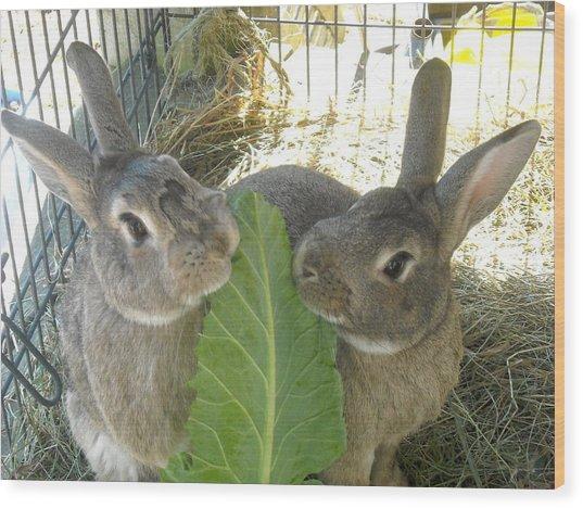 Bunny Friends Wood Print