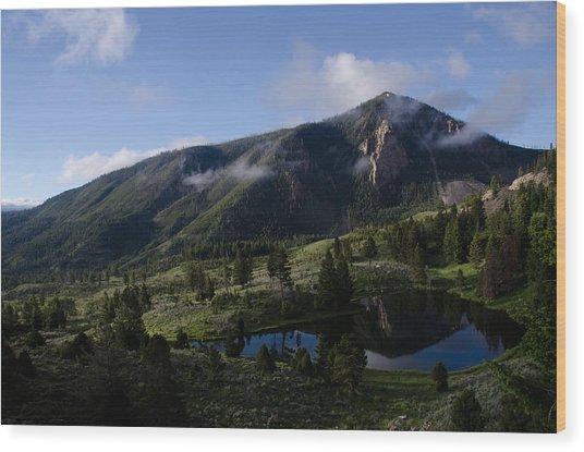 Bunsen Peak Reflection Wood Print
