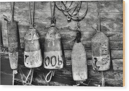 Buoys Wood Print