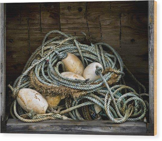 Buoys In A Box Wood Print