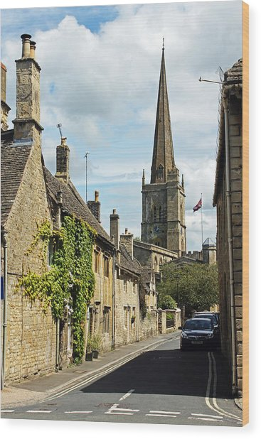 Burford Village Street Wood Print