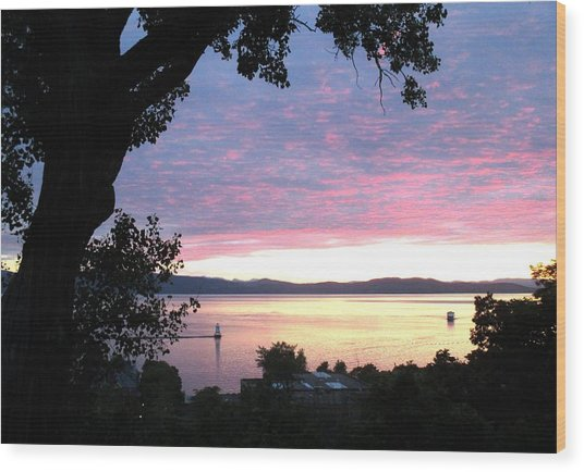 Burlington Sunset Wood Print