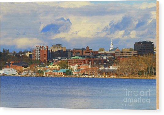 Burlington Vermont Lakefront Wood Print