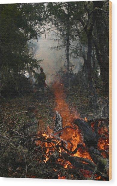 Burn Original Wood Print