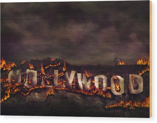 Burn This City Wood Print