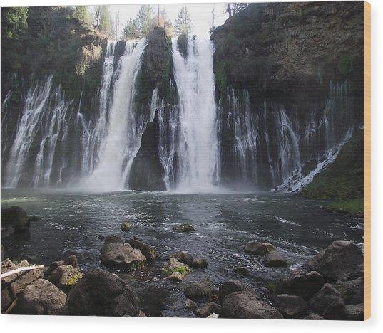 Burney Falls - The Eighth Wonder Of The World Wood Print by James Rishel