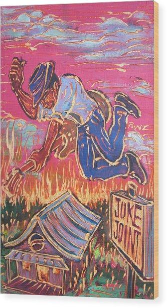 Burnin' It Up Wood Print by Robert Ponzio