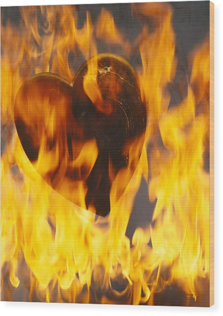 Burning Love C1978 Wood Print