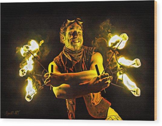 Burning Passion Wood Print
