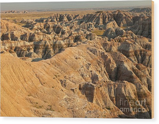 Burns Basin Overlook Badlands National Park Wood Print