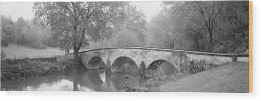 Burnside Bridge Antietam National Wood Print