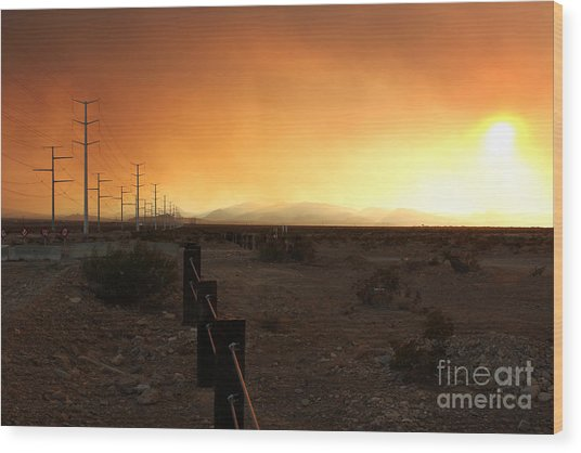 Burnt Sky Wood Print
