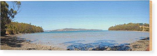 Burny Island Wood Print