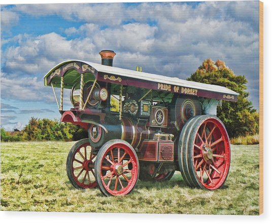 Wood Print featuring the digital art Burrell Showmans Engine by Paul Gulliver