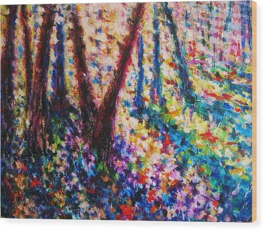 Bursting Through Wood Print