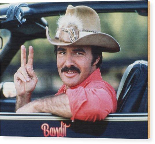 Burt Reynolds In Smokey And The Bandit  Wood Print