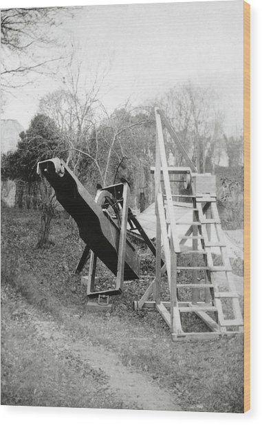 Burton's Telescope Wood Print by Royal Astronomical Society/science Photo Library
