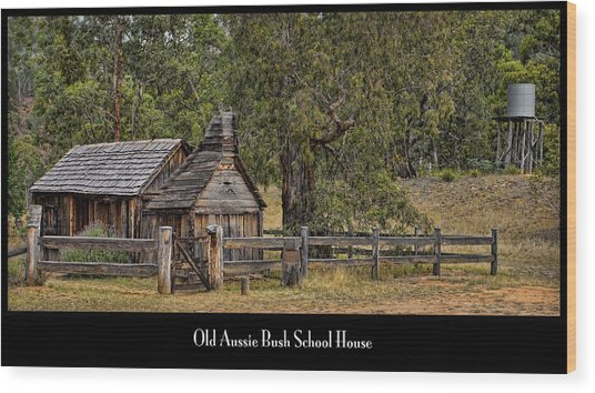 Bush School House Wood Print