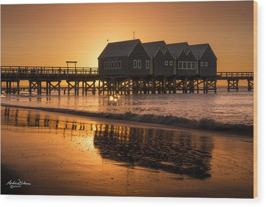 Busselton Sunset Wood Print