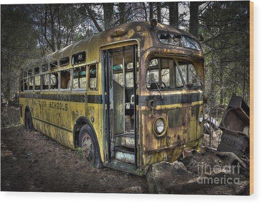 Bus'ted Wood Print