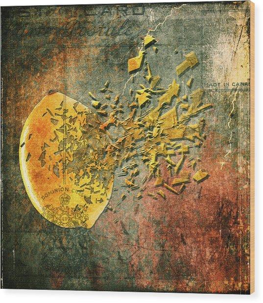 Busted Lemon Wood Print