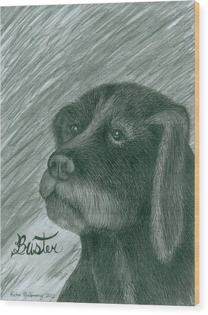 Buster Wood Print