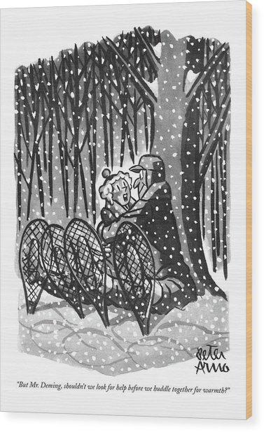 But Mr. Deming Wood Print