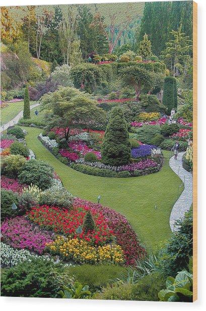 Butchart Gardens Wood Print
